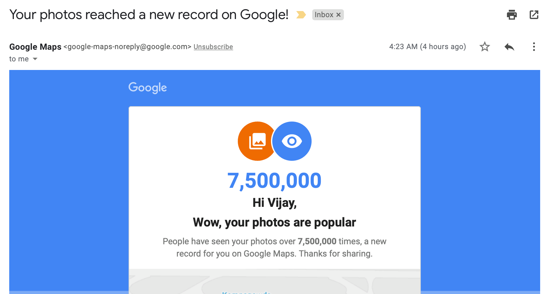 Google Photos Popular views